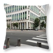 San Diego Hall Of Justice Throw Pillow