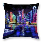 San Diego Harbor Throw Pillow