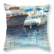 San Diego Mission Bay Throw Pillow