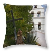 San Diego Mission Bells Throw Pillow