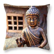 San Diego Mission De Acalca Throw Pillow