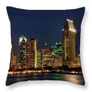San Diego Night Throw Pillow
