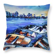San Diego Skyline Throw Pillow