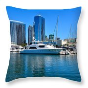 San Diego South Park Marina Throw Pillow
