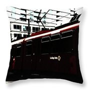 San Diego Trolley Throw Pillow