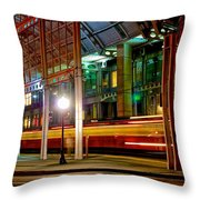 San Diego Trolley Station Throw Pillow