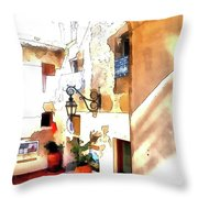 San Felice Circeo Foreshortening Throw Pillow