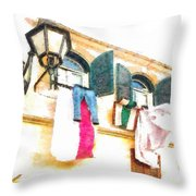 San Felice Circeo Put Clothes Throw Pillow