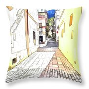 San Felice Circeo Street Throw Pillow