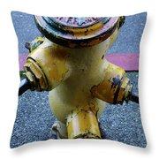 San Fran Hydrant Throw Pillow