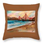 San Francisc Bridge Throw Pillow