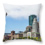 San Francisco Waterfront Throw Pillow