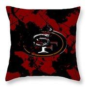 San Francisco 49ers 1b Throw Pillow