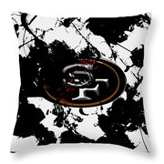 San Francisco 49ers B1 Throw Pillow