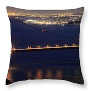San Francisco At Night Throw Pillow