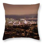 San Francisco At Night Throw Pillow