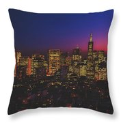 San Francisco At Sunset Throw Pillow