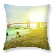 San Francisco Baker Beach Throw Pillow
