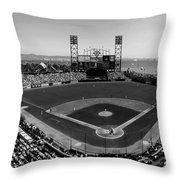 San Francisco Ballpark Bw Throw Pillow