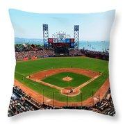 San Francisco Ballpark Throw Pillow