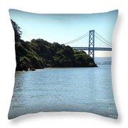 San Francisco Bay Bridge Throw Pillow