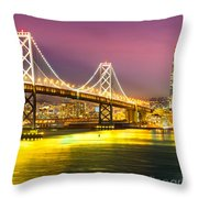 San Francisco - Bay Bridge Throw Pillow