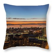 San Francisco Bay Early Morning Glow  Throw Pillow