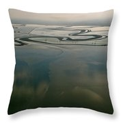 San Francisco Bay Salt Flats 2 Throw Pillow
