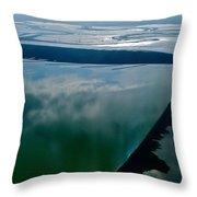 San Francisco Bay Salt Flats 3 Throw Pillow