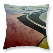 San Francisco Bay Salt Flats 4 Throw Pillow