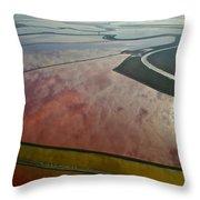 San Francisco Bay Salt Flats 5 Throw Pillow