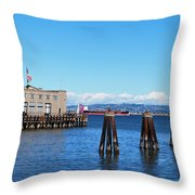 San Francisco Bay Trail View Throw Pillow