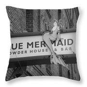 San Francisco Blue Mermaid Bw Throw Pillow
