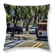 San Francisco, Cable Cars -1 Throw Pillow
