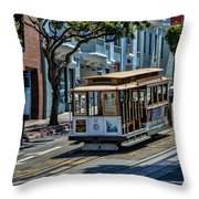 San Francisco, Cable Cars -2 Throw Pillow