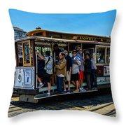 San Francisco, Cable Cars -3 Throw Pillow