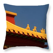 San Francisco California China Town Throw Pillow