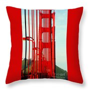 San Francisco Golden Gate Bridge Symphony In California Throw Pillow