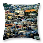 San Francisco California Scenic  Rooftop Landscape Throw Pillow