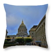 San Francisco City Hall Throw Pillow