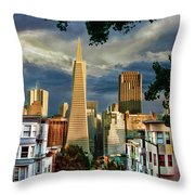 San Francisco Cliff Throw Pillow
