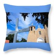San Francisco De Asis Church Throw Pillow