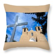 San Francisco De Asis - Rancho De Taos Throw Pillow