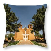 San Francisco De Assisi Mission Church Taos New Mexico 2 Throw Pillow