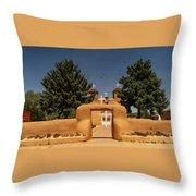 San Francisco De Assisi Mission Church Taos New Mexico Throw Pillow