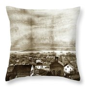 San Francisco, From Clay Street, 1855 Throw Pillow