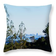 San Francisco From Mt. Tamalpais Throw Pillow