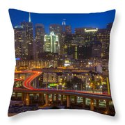 San Francisco From Potrero Hill Throw Pillow by Inge Johnsson