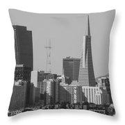San Francisco From Treasure Island Throw Pillow