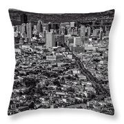 San Francisco From Twin Peaks Throw Pillow